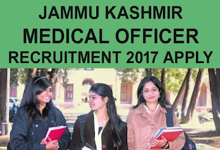 JKPSC 371 Medical Officer Recruitment 2017, Jobs in Jammu, JKPSC Recruitment 2017