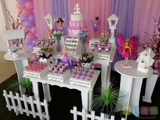 Decoração festa infantil Barbie Butterfly