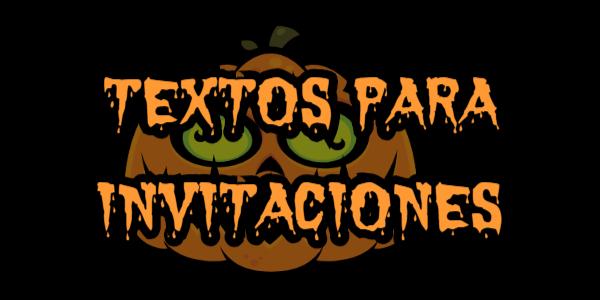 Textos para invitaciones de halloween