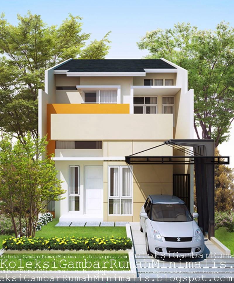 Contoh  Desain Rumah  Minimalis  Modern 2 Lantai  Tampak Depan