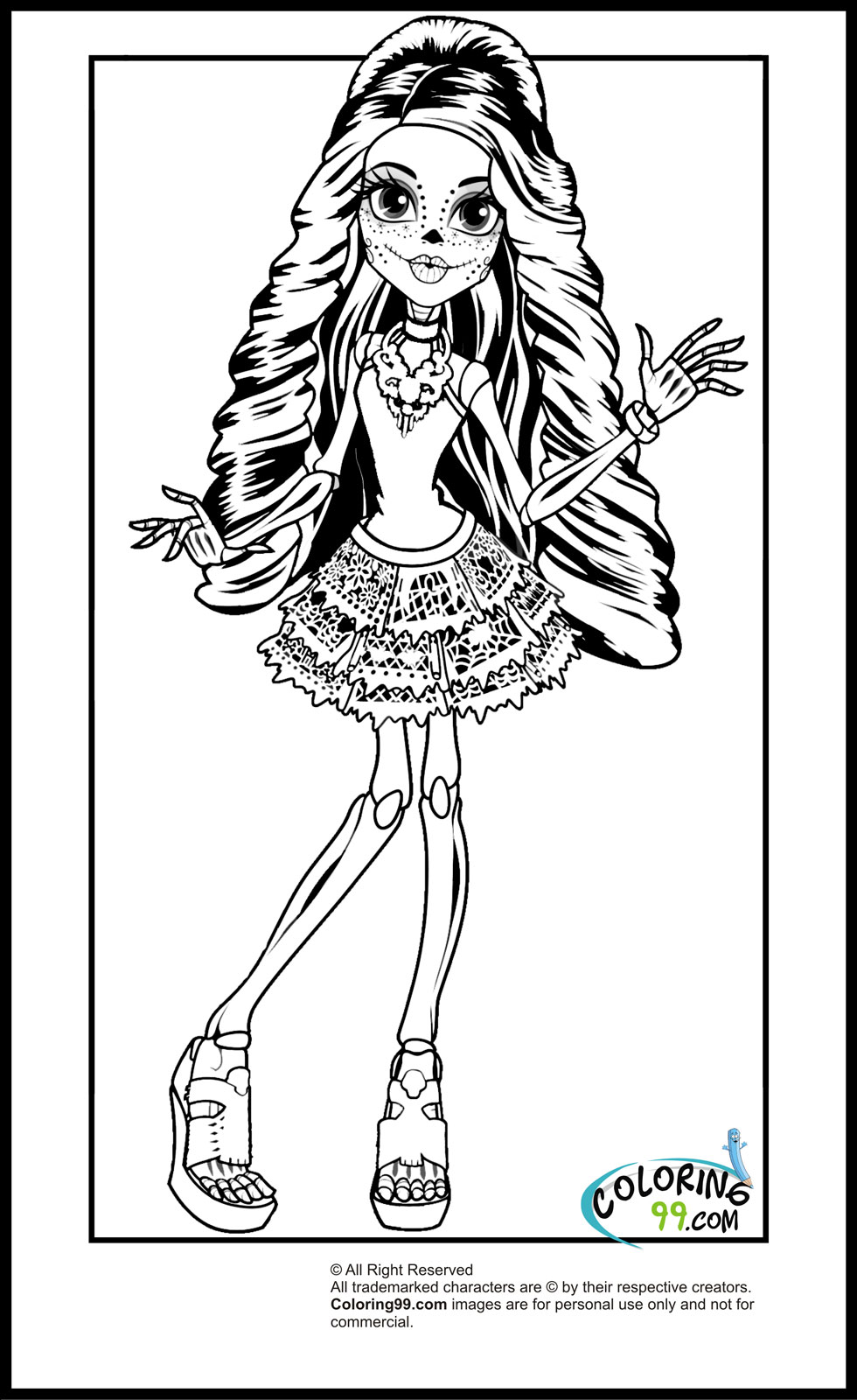 scaris monster high coloring pages - photo#1