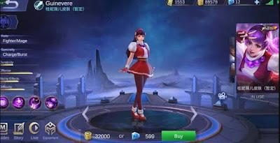 Skin Guinevere Athena Asamiya (King of Fighter) Mobile Legends: Bang Bang
