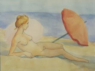 Cristina alonso arte pintura desnudo playa