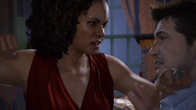 Nadine Ross vs Nathan Drake in Uncharted 4