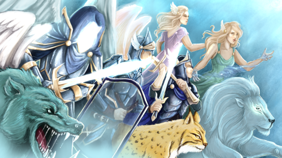 Armia Światła - grafika do książki Wojna Światła i Ciemności wykonana przez Joahannah