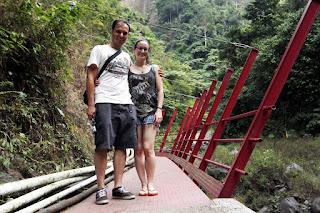 Parte del sendero a la cascada Madakaripura