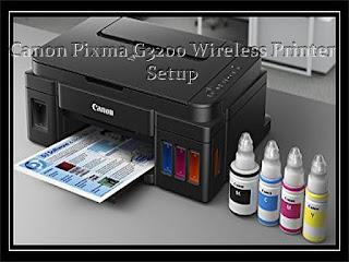 Canon PIXMA G3200 Wireless Printer Setup