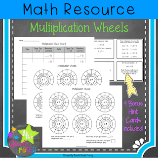 Multiplication Fact Wheels
