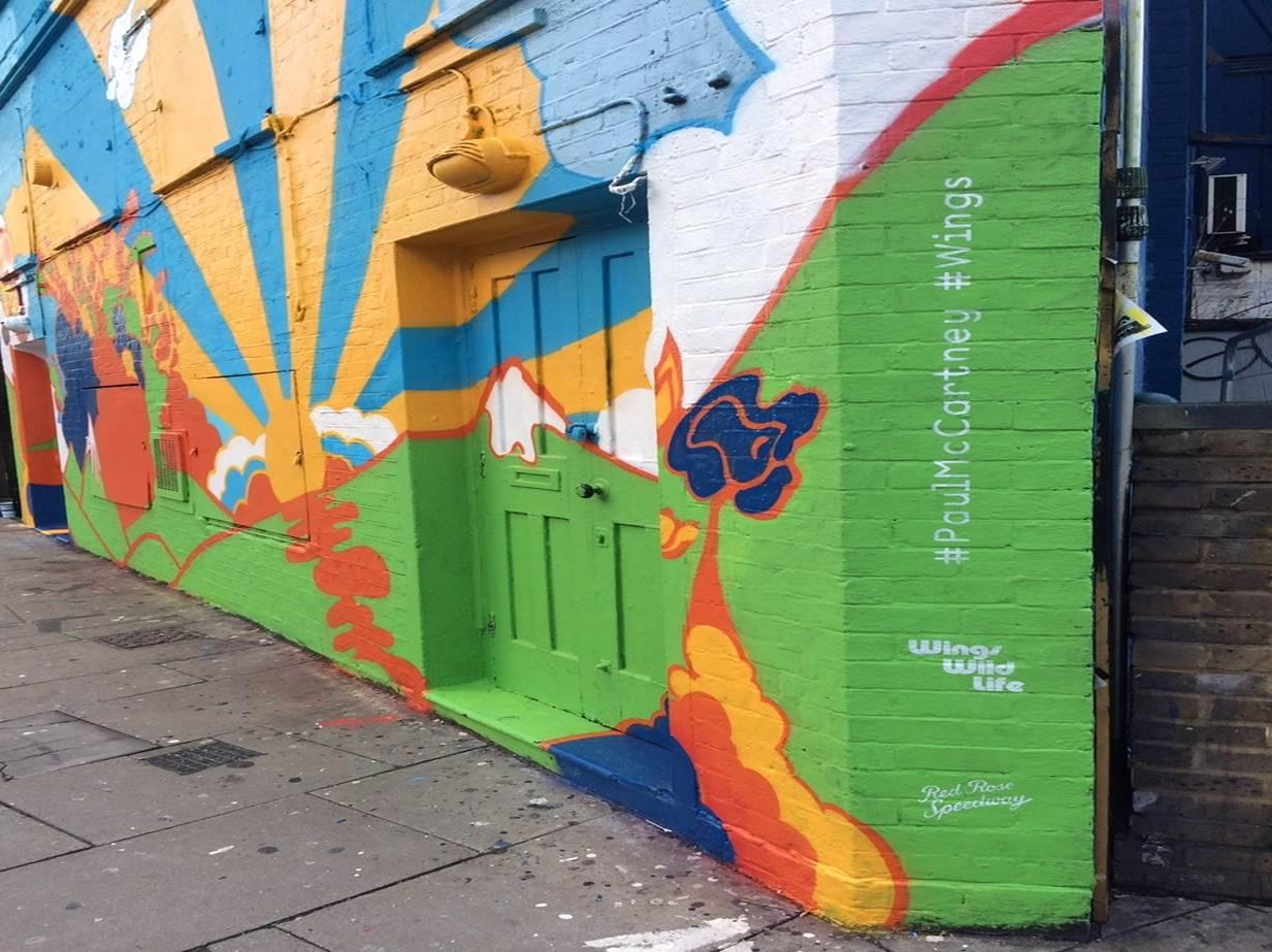 British Beatles Fan Club: McCartney Mural Near Shoreditch