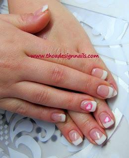 French Nails -Herz Motiv