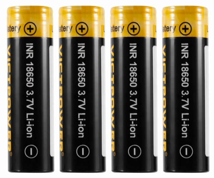 Batteria ricaricabile per torcia a LED da 18650-3,7V-2600mAh