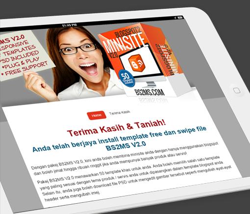 Nak Tak Template Ubah Blogspot kepada Minisite Profesional Secara PERCUMA ?