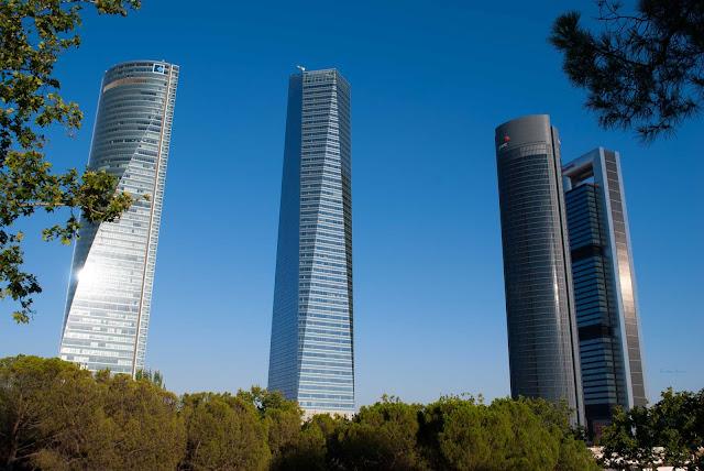 madrid cuatro torres plaza castilla spain españa