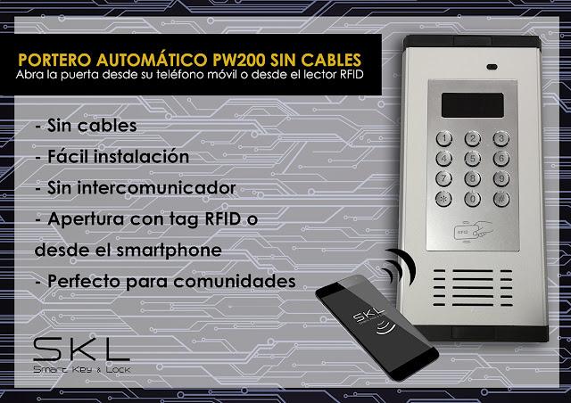 Portero automático sin cables con apertura vía tarjeta SIM o tag RFID