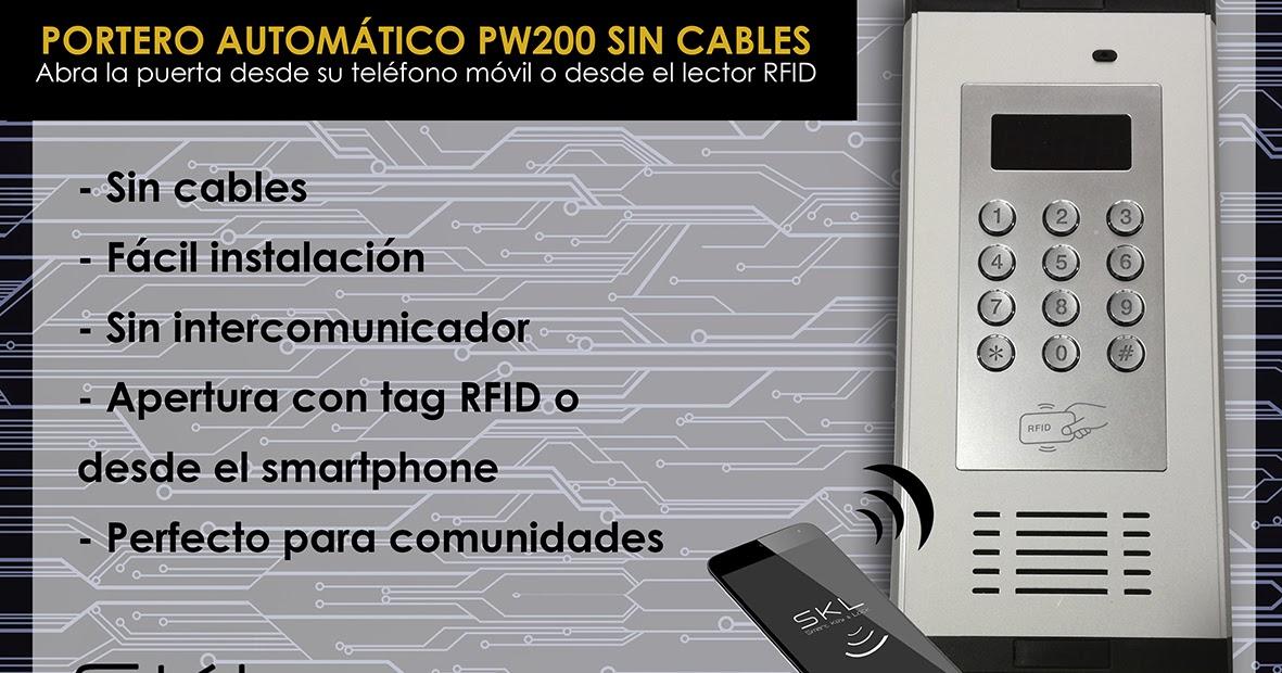 Skl cerraduras electr nicas por qu el portero - Telefono portero automatico ...