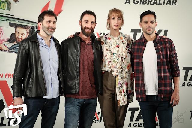 Ingrid García-Jonsson, Alejo Flah, Dani Rovira, Joaquín Furriel, Taxi a Gibraltar, photocall