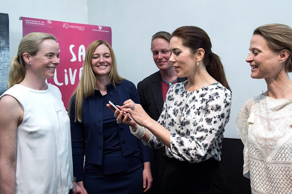 Crown Princess Mary of Denmark, as patron participate in the marking of Maternity Foundation's 10th anniversary.