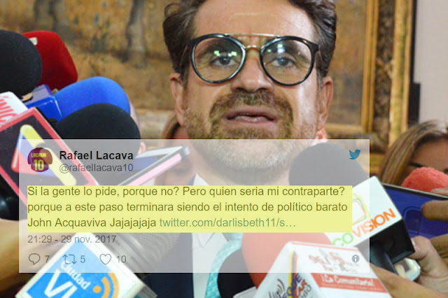 Rafael Lacava aspira a ser Presidente de Venezuela
