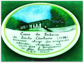 Prato da Casa do Imigrante no Museu Histórico de São Leopoldo