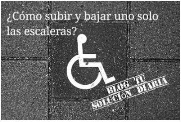Subir y bajar escaleras en silla de ruedas
