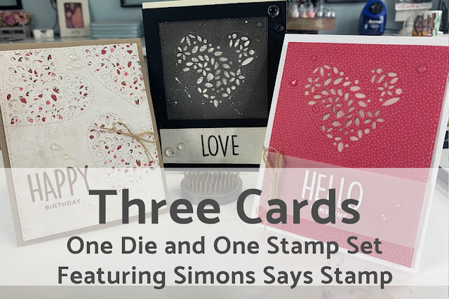 Three Cards: One Die and One Stamp Set~Video