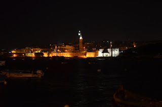Valletta, Malta historic city night