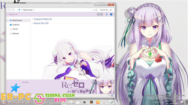 Download Tema Windows 10 Ver. 1703 Emilia - Re:Zero by Enji Riz