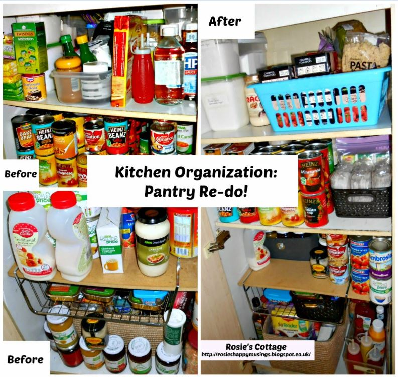 Organized Kitchen Before And After: Rosie's Cottage: Kitchen Organization: Pantry Re-do