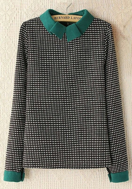 polka dot full sleeves cotton blouse