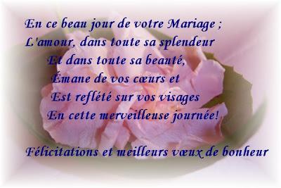 exemple Félicitation Mariage Gratuit