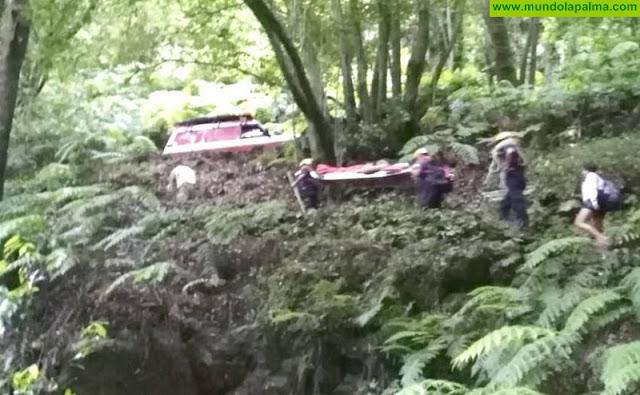 Los Bomberos rescataron ayer una senderista en Marcos y Cordero