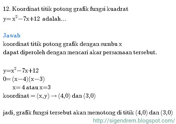 contoh soal persamaan kuadrat sma