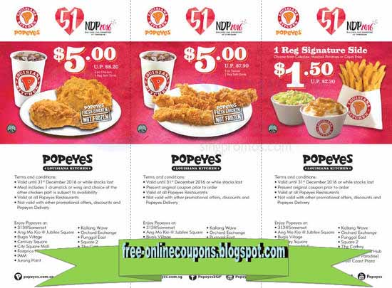 picture relating to Popeye Coupons Printable titled Popeyes coupon march 2019