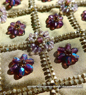 Detail of bead embroidered purse. (Rare Vintage by Liz Vickery, Inspirations, bead embroidered purse)