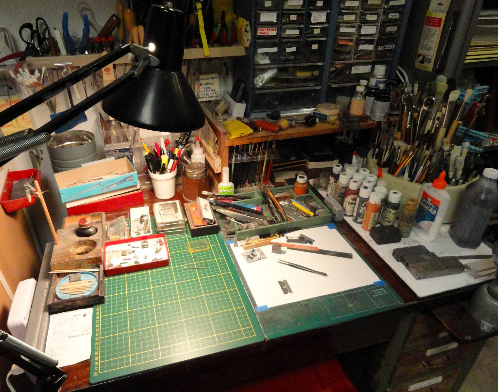 Model Railroad Minutiae My Modeling Workbench
