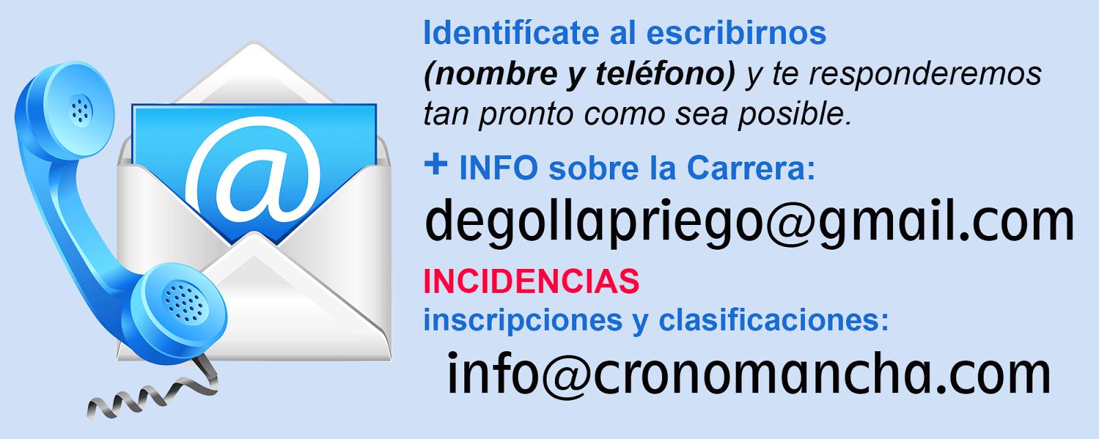 ORGANIZACIÓN / CRONOMETRAJE