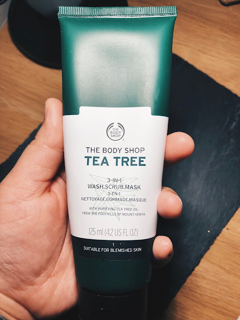 Tea tree 3 in 1 face mask scrub