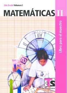 Libro de TelesecundariaMatemáticasIISegundo gradoVolumen ILibro para el Maestro2016-2017