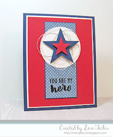 You Are My Hero card-designed by Lori Tecler/Inking Aloud-stamps and dies from Reverse Confetti