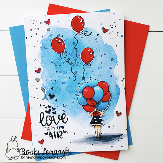 Love is in the air by Bobbi features Holding Happiness, Uplifting Wishes, and Delightful Doxies by Newton's Nook Designs; #newtonsnook
