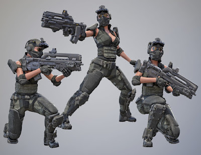 Tactical Assault Rifle and Add-ons for Tactical Assault Outfit