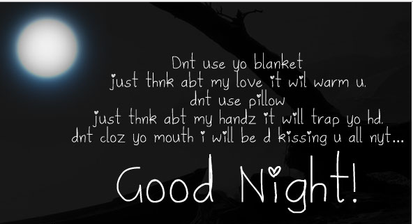good night wishes for husband funny