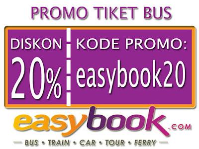 Diskon 20% Pembelian Tiket Bus Via Easybook