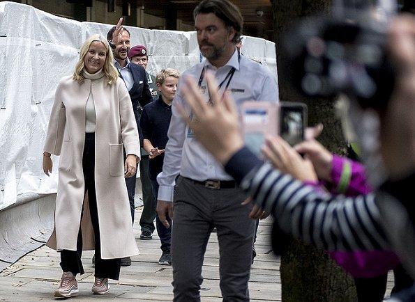 Crown Prince Haakon, Crown Princess Mette-Marit, Princess Ingrid Alexandra and Prince Sverre Magnus in Bergen