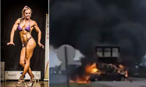 World champion female bodybuilder is burned alive with four other competitors in Argentina horror crash (Video)