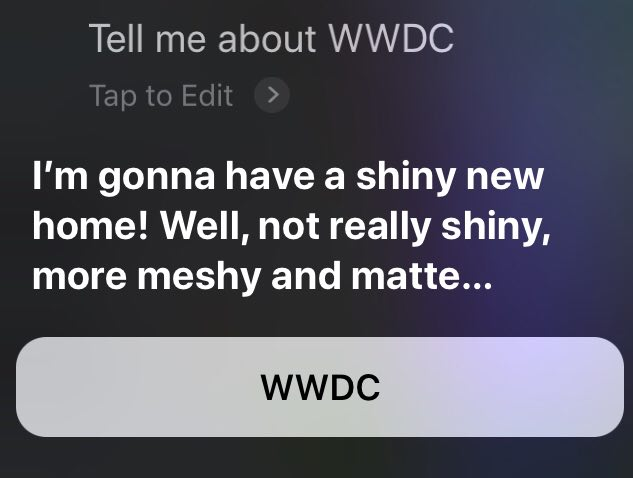 Siri Reveals New Hardware Would Announced In WWDC This Year, Most Likely Cheaper HomePod