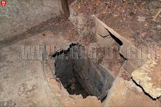 Бункер №19 Слуцкого укрепрайона. Провал в подземный этаж