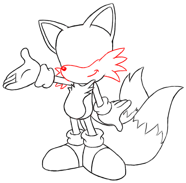 How To Draw Tails Draw Central