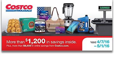 Current Costco Coupon April 2016