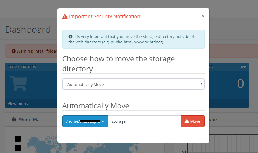 Important Security Notification trong Opencart 3